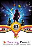Tanzen-Nachthintergrund Stockbilder