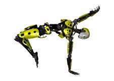 Tanzen-Roboter der Wiedergabe-3D auf Weiß Stockfotos