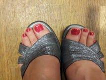 Tanzen-Schuhe an Lizenzfreie Stockbilder