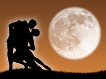 Tanzen Sie in den Mond Stockbilder