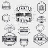 Tanzen Sie Festivalinsignien und -aufkleber für irgendwelche Gebrauch Stockfoto