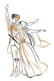Tanzen Sie mit Bild des Mannes und der Frau Lizenzfreie Stockfotografie