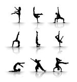Tanzen u. gymnastisch Stockfoto