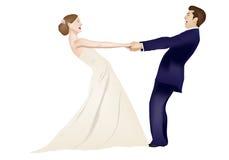 Tanzen-verheiratetes Paar lizenzfreie abbildung