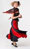 Tanzende angemessene Dame stockfotografie