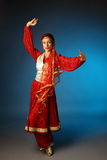 Tanzende asiatische Frau Lizenzfreies Stockfoto