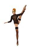 Tanzende blanke Frau Stockbilder