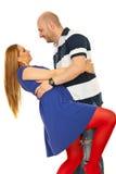 Tanzende glückliche Paare lizenzfreie stockfotografie