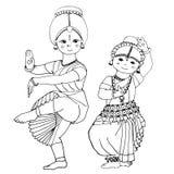 Tanzende indische Mädchen Lizenzfreie Stockbilder