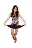 Tanzende junge Frau. stockfotografie