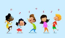 Tanzende Karikaturkinder vektor abbildung