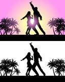 Tanzende Lateintänze der Paare Stockfoto