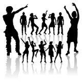 Tanzende und singenleute neues Set Stockfotografie
