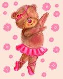 Tanzender Bär mit Blumen vektor abbildung