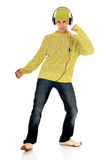 Tanzender jugendlich Kopfhörer Lizenzfreies Stockfoto