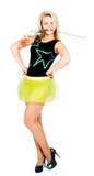 Tanzendes blondes Mädchen Lizenzfreie Stockbilder