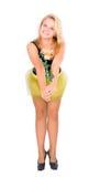 Tanzendes blondes Mädchen Stockfoto