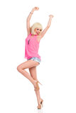 Tanzendes dünnes Mädchen Stockfotos