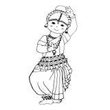 Tanzendes indisches Mädchen Stockfotografie