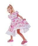 Tanzendes kleines Mädchen stockfotos