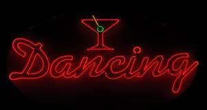 Tanzendes Neonzeichen stockbilder