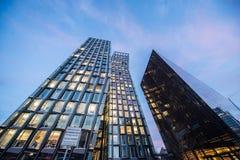 Tanzendetã ¼ rme Hamburg dansende toren stock afbeelding