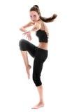 Tanzenfrau   Getrennt Lizenzfreies Stockfoto