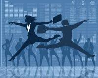 Tanzengeschäftsmannschattenbilder Stockbild