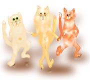 Tanzenkatzen Lizenzfreie Stockfotos