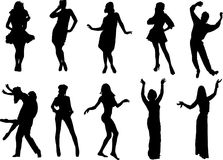 Tanzenleute Stockbild