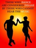 Tanzenleute hören Musik stock abbildung