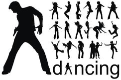 Tanzenleuteschattenbilder Lizenzfreie Stockbilder