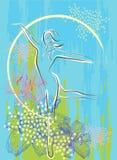 Tanzenmädchen vektor abbildung