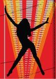 Tanzenmädchen stock abbildung