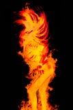 Tanzenmädchen im Feuer Lizenzfreies Stockbild
