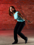 Tanzenmädchen ratlos Lizenzfreies Stockfoto