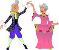 Tanzenmann und -frau vektor abbildung