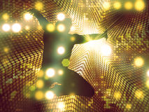 Tanzenmannesschattenbild stock abbildung
