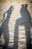 Tanzenschatten von zwei Personen Lizenzfreie Stockbilder