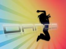 Tanzenschattenbild Stockfotografie