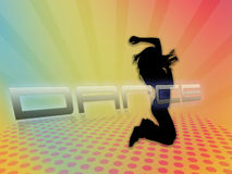 Tanzenschattenbild Lizenzfreies Stockbild