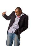 Tanzenstimmung des schwarzen Mannes Lizenzfreie Stockbilder