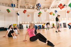 Tanzklasse für Frauen Stockbild