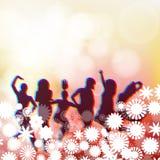 Tanzleutehintergrund Stockfotos