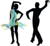 Tanzleuteschattenbild Lizenzfreie Stockbilder