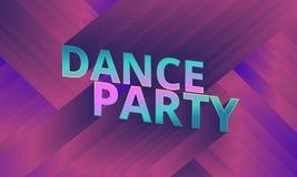 Tanzpartyflieger, musikalischer Hintergrund, Vektor Stockfotos