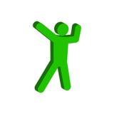 Tanzsymbol Flache isometrische Ikone oder Logo Piktogramm FO der Art-3D stock abbildung