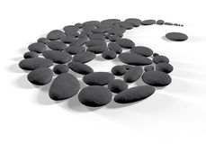 Tao black. Stones that make up the figure of the tao Stock Images