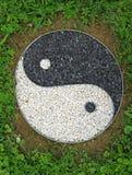 TAO symbol som föreställer bra och ondska i många kulturer Arkivbild