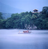 The Taohua tam. The river is full of fog, shoot in anhui China Stock Photo